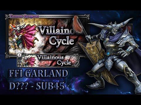 [FFRK] Torment 2.0 - FFI | Villainous Cycle, Part 3 - Garland D??? Sub45 #1254