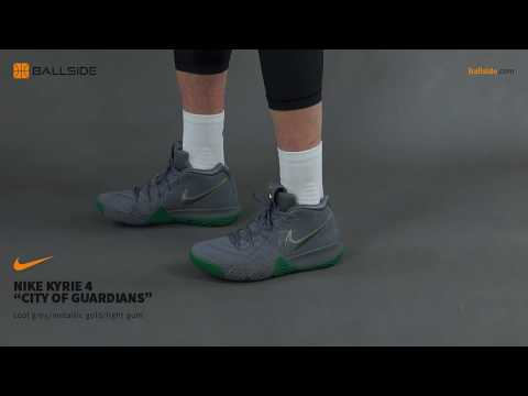 llevar a cabo labio paridad  Nike Kyrie 4 City of Guardians on feet - YouTube