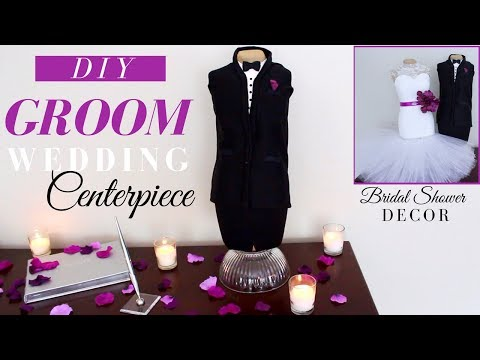 DIY Groom Centerpiece | DIY Wedding Decoration Ideas