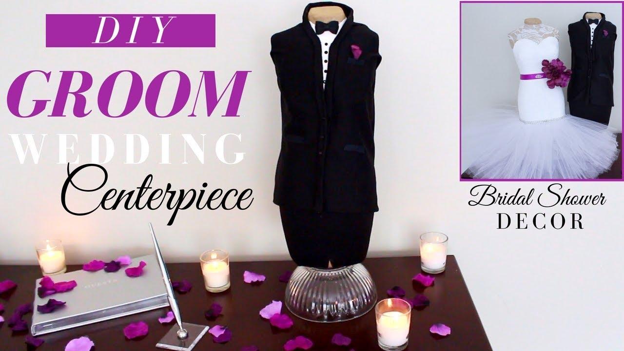 Groom Diy Centerpiece Diy Wedding Decor Diy Bridal