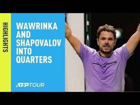 Highlights: Wawrinka Beats Raonic; Shapovalov Sweeps Berdych In Rotterdam 2019