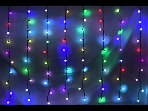 Rideau LED changement de couleur raccordable  FESTILIGHT  YouTube