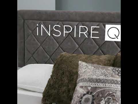 Dartington Velvet Fabric Black Finish Platform Bed by iNSPIRE Q Modern