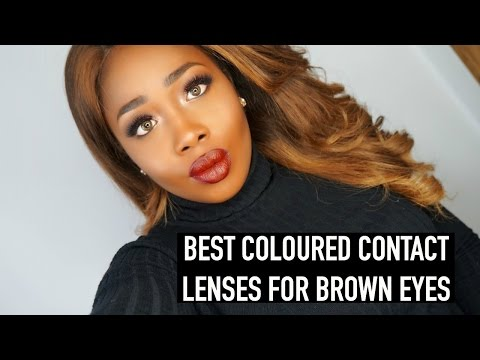 FRESHLOOK COLORED CONTACT LENSES For BROWN EYES & REVIEW