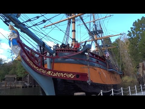 Sailing Ship Columbia full journey during final week at Disneyland 2016 before temporary closure