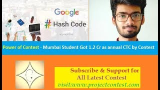 Power of Contest I Mumbai Student Got 1.2 Cr as annual CTC by Google Contest