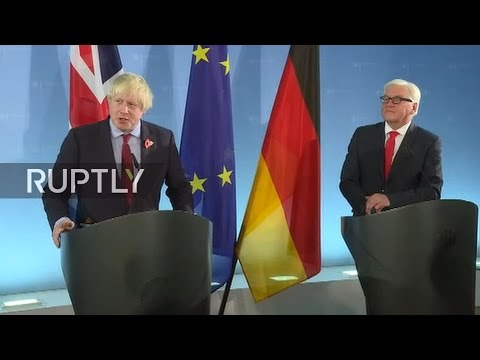 LIVE: German FM Steinmeier and UK's Boris Johnson talk to the press in Berlin