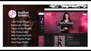 Singer - Music Singer HTML Template with Visual Page Builder | Themeforest Templates