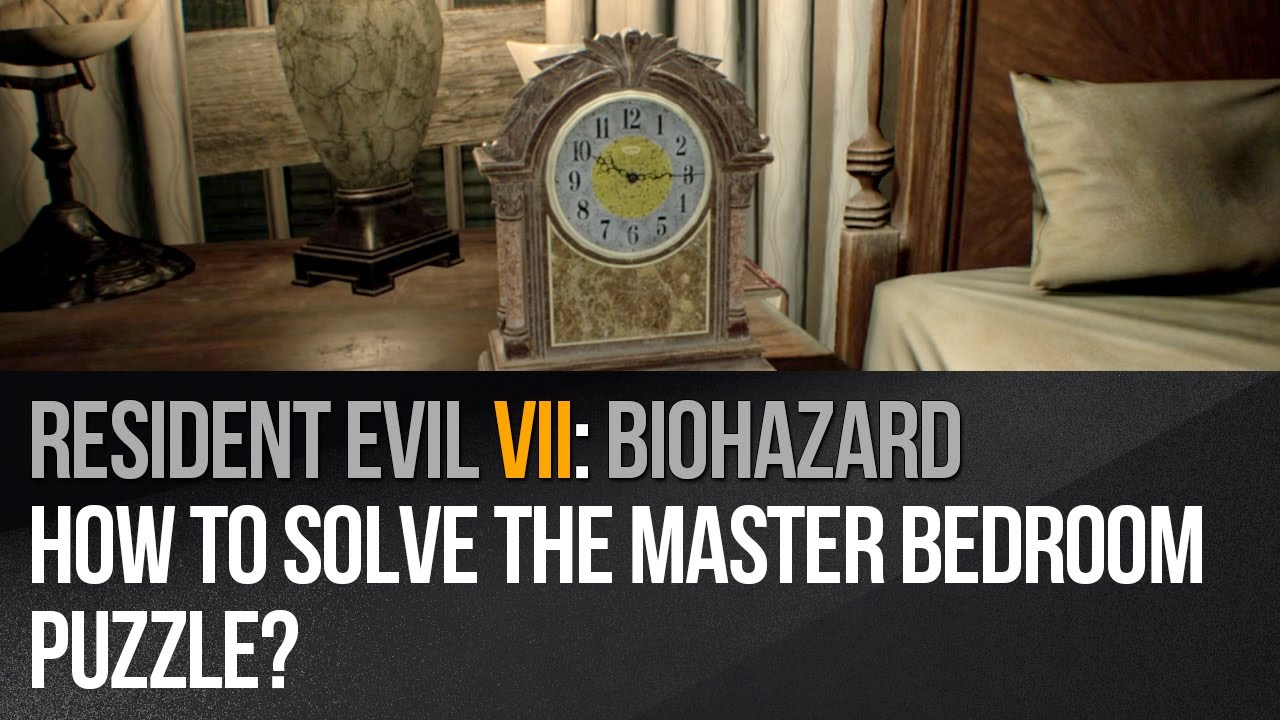 Resident Evil 7 How To Solve The Master Bedroom Puzzle Youtube