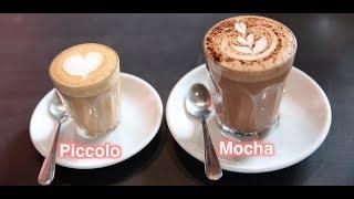 Making a Piccolo and Mocha Latte
