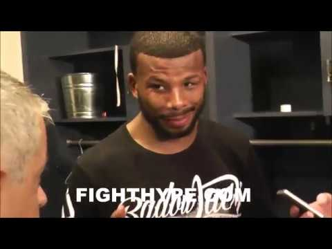 BADOU JACK IN LOCKER ROOM RIGHT AFTER MAJORITY DRAW WITH JAMES DEGALE; BEHIND-THE-SCENES EXCLUSIVE