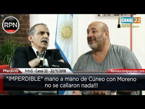 *IMPERDIBLE* mano a mano de Cúneo con Moreno, no se callaron nada!!!