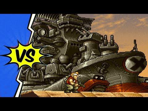 Metal Slug 2 Super Vehicle 001/II (PSP) - All Bosses |