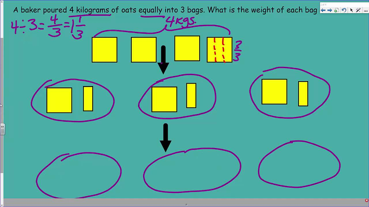 engageNY Eureka Math 5th Module 4 Lesson 3 Interpret a Fraction as ...
