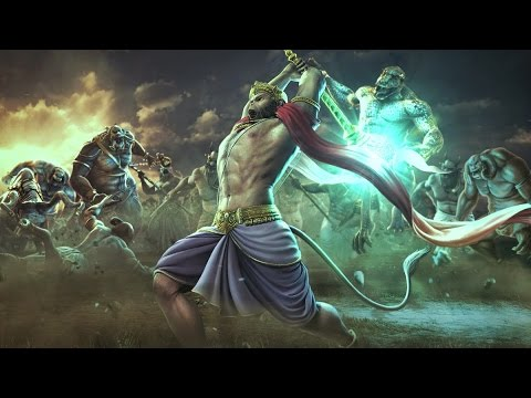 Hanuman Animated Wallpaper Lord Hanuman And Lord Rama S Fight Against Each Other