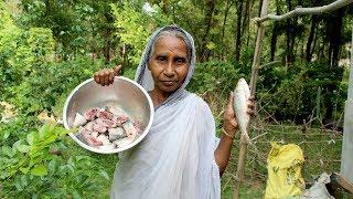 Village Food-  Traditional Ilish Macher Jhal by Grandmother | Hilsha Fish Recipe