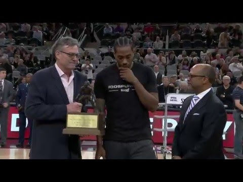 Kawhi Leonard Receives Defensive Players of the Year Award