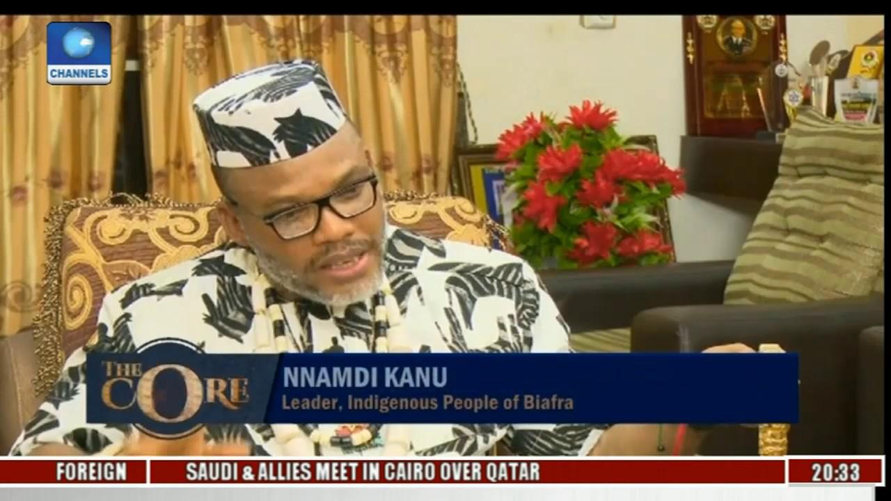 Image result for nnamdi kanu with al jazeera