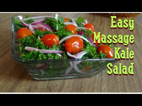 Easy Massage Kale Salad!  | A True Taste Of Heaven