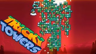 Tricky Towers Puzzle Challendg. Game review Tricky Towers. Fun game tetris.