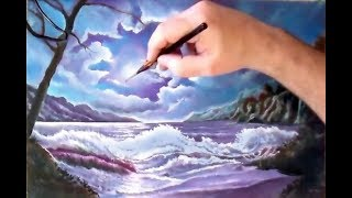 Пейзаж море Как нарисовать пейзаж. Видеоурок.