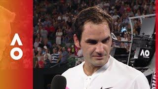 Roger Federer imitates The Rock | Australian Open 2018