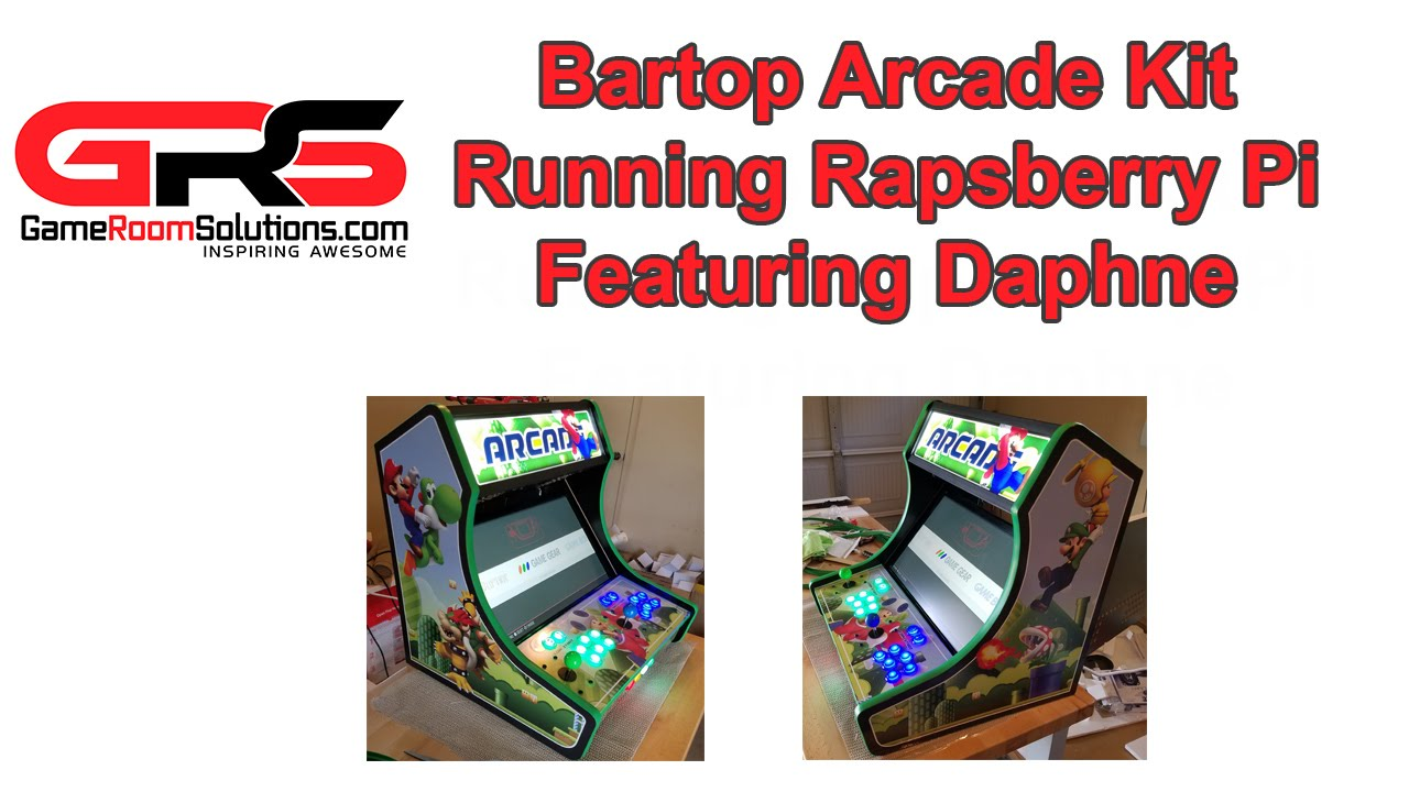 Bartop Arcade Deluxe Mario Theme Raspberry Pi 3 Walkthrough by  GameRoomSolutions com