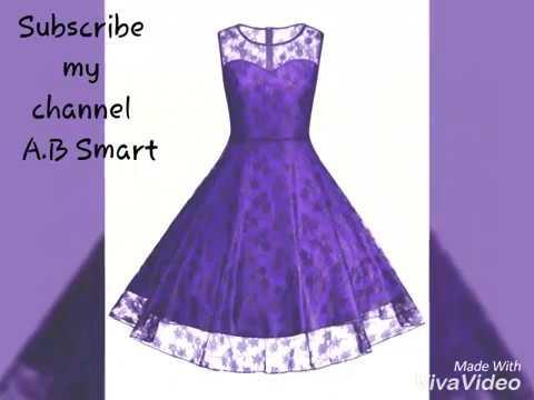 d44a9ac4a Latest Net Frock and Kurti Design Long Floral Print Dress Design ...