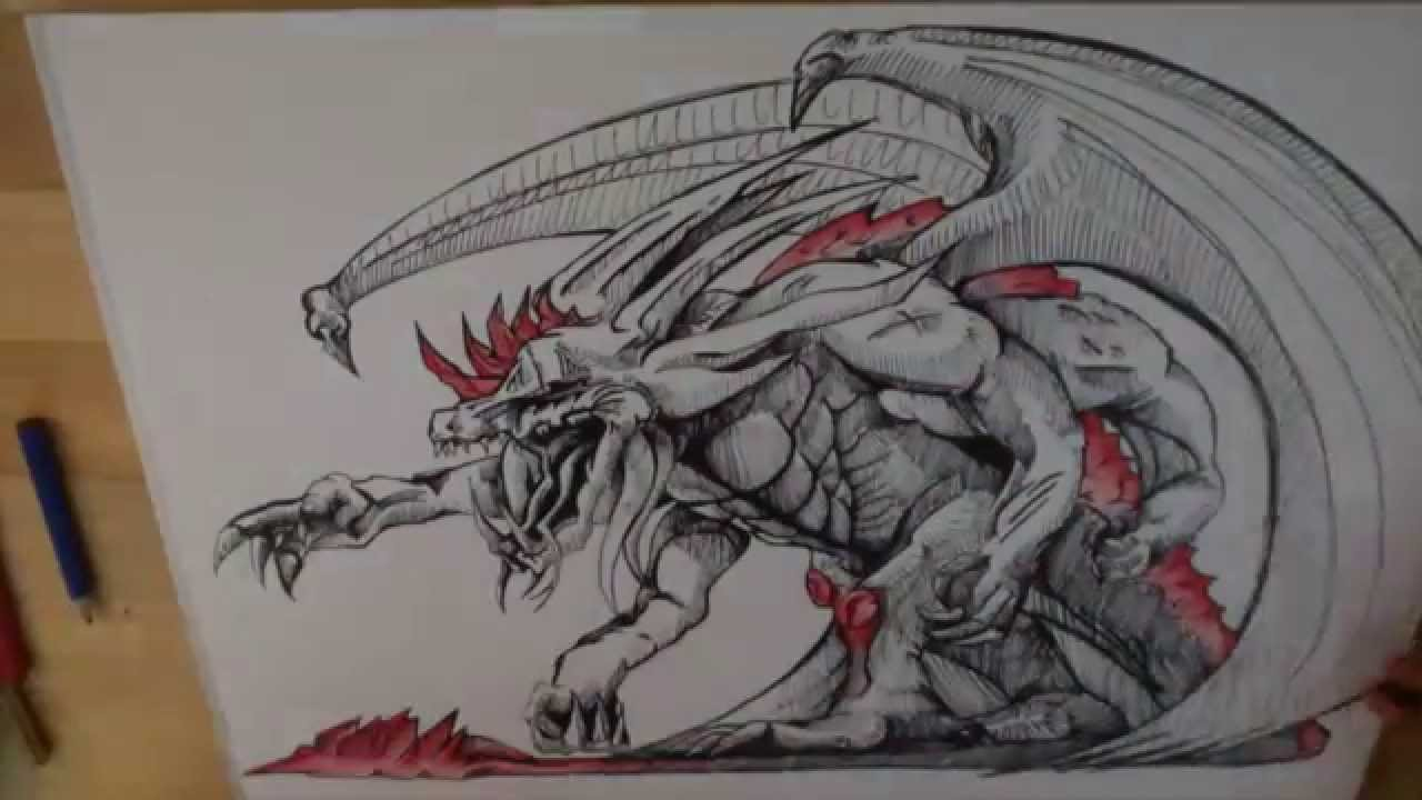 Comment Dessiner Un Dragon Youtube
