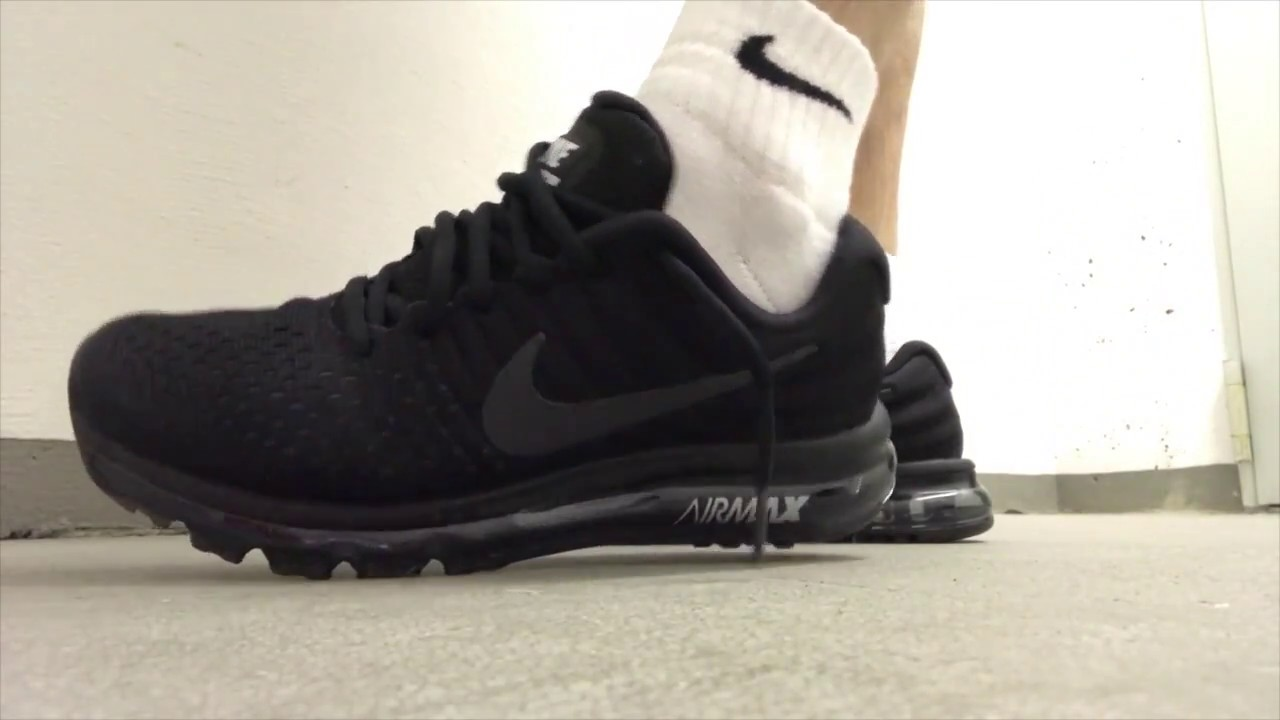 nike air max 2017 black mens