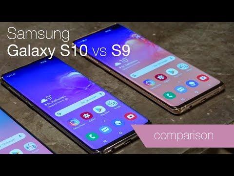 Samsung Galaxy S10 vs S9 comparison