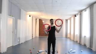 #02. Жонглирование кольцами (видео уроки от ПГ)