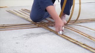 How make a Japanese bamboo basket EXPO 2015
