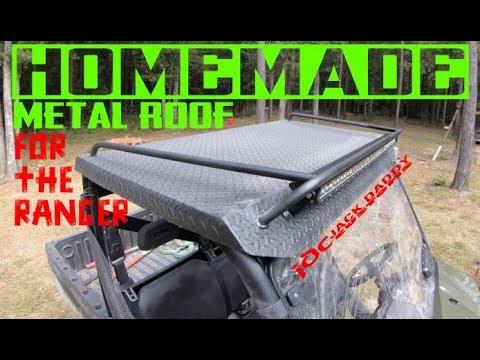 how to make a homemade diy metal roof for your polaris ranger or any utv