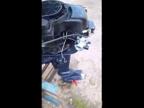 самодельные лодочные моторы с ногой от ветерка видео