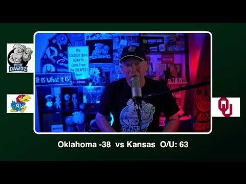 Oklahoma vs Kansas Free College Football Picks and Predictions CFB Tips Saturday 11/7/20