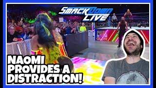 Reaction   NAOMI DISTRACTS HARPER & ROWAN   WWE Smackdown Live