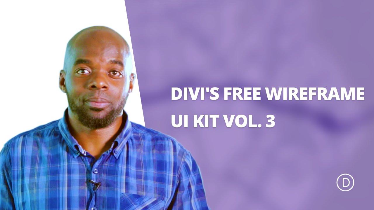 Divi's FREE wireframe ui kit vol  3
