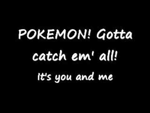 Pokemon (lyrics on screen) 1st generation theme song :D