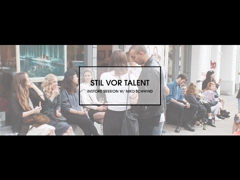 Stil vor Talent Instore Session w/ Niko Schwind