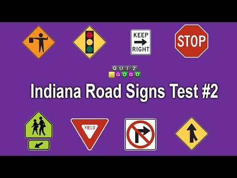 Indiana BMV Road Signs Practice Test 2017 - #2