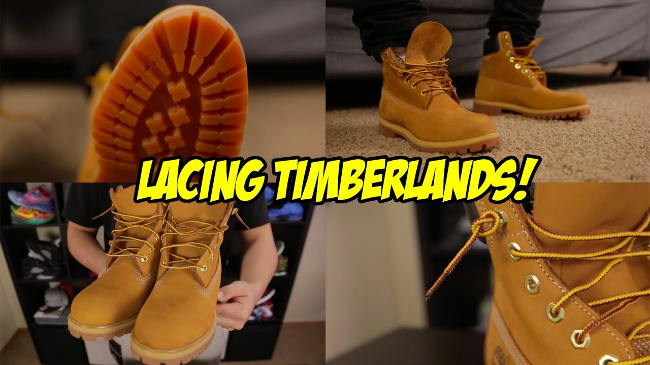 688742ac534 HOW TO LACE YOUR TIMBERLAND BOOTS - YouTube