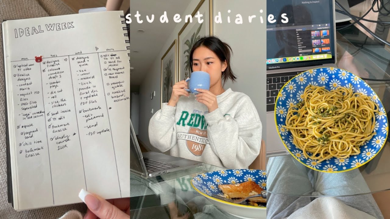 Download Student Diaries   what I eat in a day, studying, grocery shopping, get unready with me