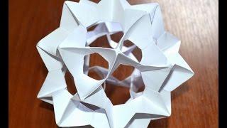 Как сделать шар из бумаги. Оригами. Кусудама / How to make a ball out of paper. Origami. Kusudama.