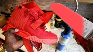 glowing 1000 degree knife vs yeezy experiment