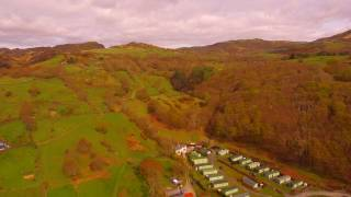 A view of Barcdy Campsite, Snowdon, Wales