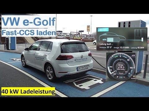 VW e-Golf 300: an Fast-CCS (150kW) laden | Laderate, Akku-Klimatisierung, Rapidegate | Strominator