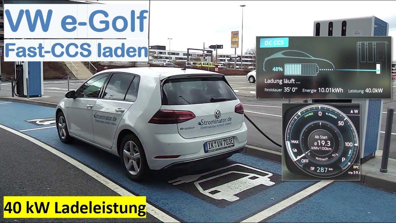 VW e Golf 300 an Fast CCS 150kW laden