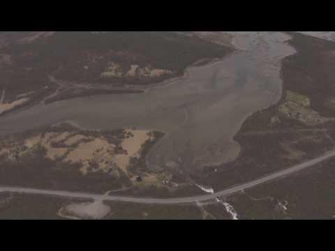 Varangerfjorden, Neiden, Munkefjorden, grenseområde - Flying Over Norway