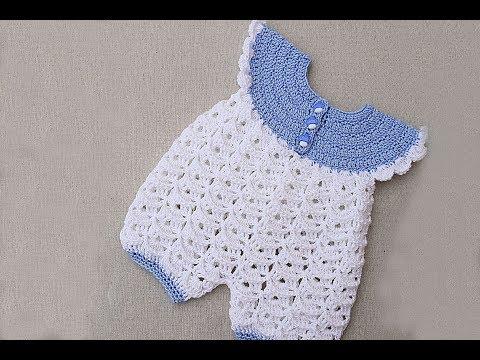 Baby rompers crochet very easy . Majovel crochet